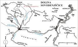 Mapa Sovodenj